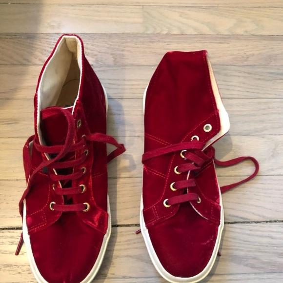 Superga Shoes | High Tops Red Velvet